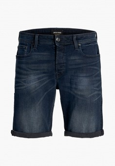 Шорты джинсовые, Jack & Jones, цвет: синий. Артикул: JA391EBHWYT5. Мальчикам / Одежда