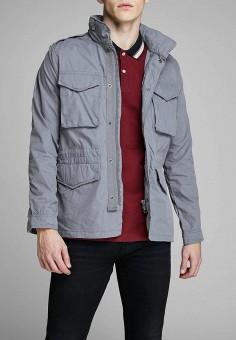 Куртка, Jack & Jones, цвет: серый. Артикул: JA391EMDKEC6. Одежда / Верхняя одежда / Демисезонные куртки