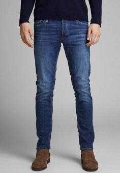 Джинсы, Jack & Jones, цвет: синий. Артикул: JA391EMFKGJ2. Одежда / Джинсы / Зауженные джинсы