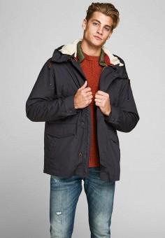 Куртка утепленная, Jack & Jones, цвет: синий. Артикул: JA391EMFYQK8. Одежда / Верхняя одежда / Пуховики и зимние куртки / Зимние куртки