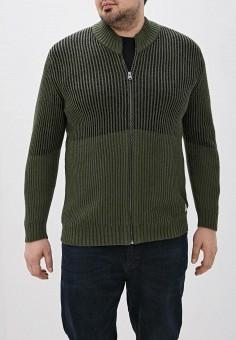 Кардиган, Jack & Jones, цвет: зеленый. Артикул: JA391EMFYQY1. Одежда / Джемперы, свитеры и кардиганы / Кардиганы