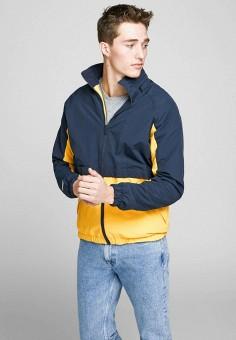Куртка, Jack & Jones, цвет: синий. Артикул: JA391EMHSUV5. Одежда / Верхняя одежда / Легкие куртки и ветровки