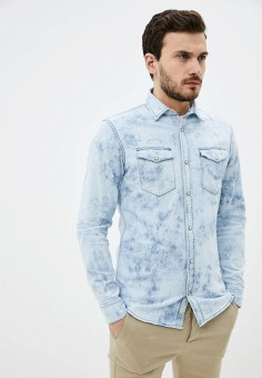 Рубашка джинсовая, Jack & Jones, цвет: голубой. Артикул: JA391EMHSVA9. Одежда / Рубашки