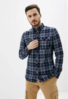 Рубашка, Jack & Jones, цвет: синий. Артикул: JA391EMHSVU7. Одежда / Рубашки