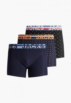 Комплект, Jack & Jones, цвет: синий, черный. Артикул: JA391EMHSVW1. Одежда / Нижнее белье