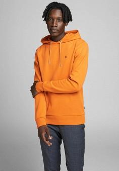 Худи, Jack & Jones, цвет: оранжевый. Артикул: JA391EMHSWP7. Одежда / Толстовки и олимпийки / Худи