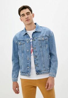 Куртка джинсовая, Jack & Jones, цвет: синий. Артикул: JA391EMHZTY5. Одежда / Верхняя одежда / Джинсовые куртки