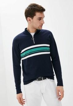 Джемпер, Jack & Jones, цвет: синий. Артикул: JA391EMISSH8. Одежда / Джемперы, свитеры и кардиганы / Джемперы и пуловеры