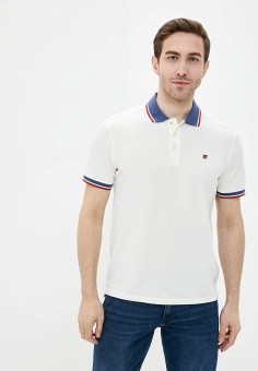 Поло, Jack & Jones, цвет: белый. Артикул: JA391EMJKLX4. Одежда / Футболки и поло / Поло