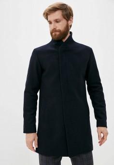 Пальто, Jack & Jones, цвет: синий. Артикул: JA391EMJPBM4. Одежда / Верхняя одежда / Пальто