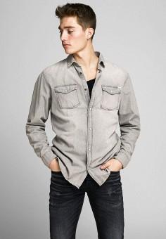Рубашка, Jack & Jones, цвет: серый. Артикул: JA391EMJPBM5. Одежда