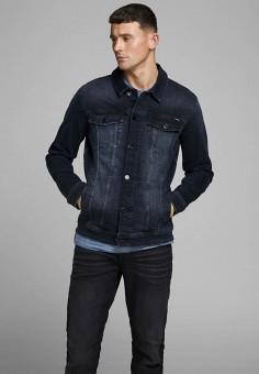 Куртка джинсовая, Jack & Jones, цвет: синий. Артикул: JA391EMJQKO4. Одежда / Верхняя одежда / Джинсовые куртки