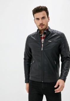 Куртка кожаная, Jack & Jones, цвет: черный. Артикул: JA391EMKEEC7. Одежда / Верхняя одежда / Кожаные куртки