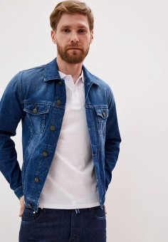 Куртка джинсовая, Jacob Cohen, цвет: синий. Артикул: JA653EMIQTM8. Одежда / Верхняя одежда