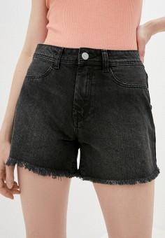 Шорты джинсовые, Jacqueline de Yong, цвет: черный. Артикул: JA908EWHISK1. Одежда / Шорты