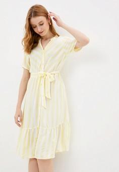 Платье, Jacqueline de Yong, цвет: желтый. Артикул: JA908EWHISK2. Одежда / Платья и сарафаны