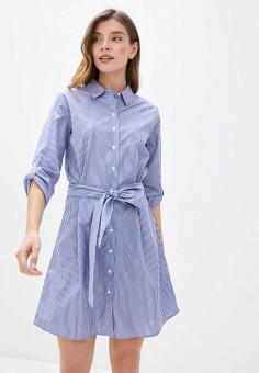 Платье, Jacqueline de Yong, цвет: синий. Артикул: JA908EWHISL0. Одежда / Платья и сарафаны