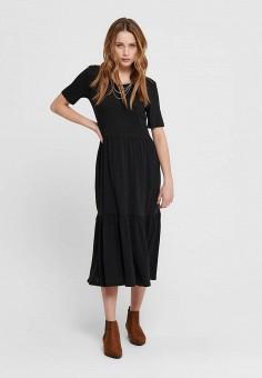 Платье, Jacqueline de Yong, цвет: черный. Артикул: JA908EWHISP0. Одежда / Платья и сарафаны / Повседневные платья