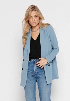 Пиджак, Jacqueline de Yong, цвет: голубой. Артикул: JA908EWHISP9. Одежда / Пиджаки и костюмы