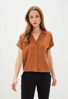 Блуза, Jacqueline de Yong, цвет: коричневый. Артикул: JA908EWHISU8. Одежда / Блузы и рубашки
