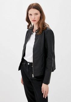 Куртка кожаная, Jacqueline de Yong, цвет: черный. Артикул: JA908EWJOZP1. Одежда / Верхняя одежда / Кожаные куртки