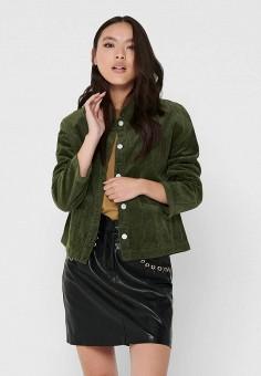 Рубашка, Jacqueline de Yong, цвет: зеленый. Артикул: JA908EWJOZQ6. Одежда / Блузы и рубашки / Рубашки