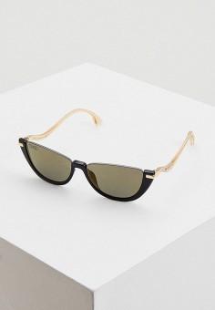 Очки солнцезащитные, Jimmy Choo, цвет: черный. Артикул: JI002DWIVEE3. Аксессуары