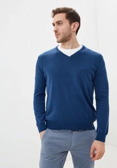 Пуловер, Jimmy Sanders, цвет: синий. Артикул: JI006EMIQZA7. Одежда / Джемперы, свитеры и кардиганы / Джемперы и пуловеры