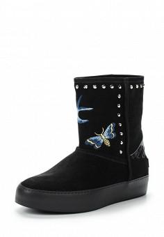 Полусапоги, John Richmond, цвет: черный. Артикул: JO003AWUTS55. Обувь / Сапоги / Угги и унты