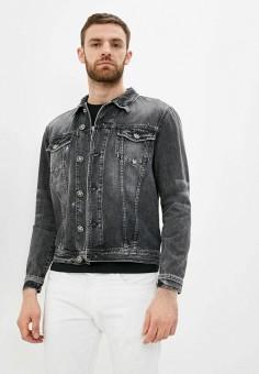 Куртка джинсовая, John Richmond, цвет: черный. Артикул: JO003EMHHAB4. Одежда / Верхняя одежда / Джинсовые куртки