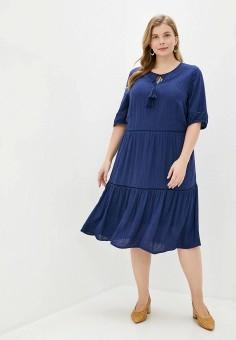 Платье, Junarose, цвет: синий. Артикул: JU008EWHRZW4. Одежда / Одежда больших размеров