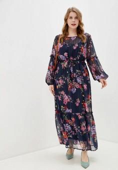 Платье, Junarose, цвет: синий. Артикул: JU008EWHRZW6. Одежда / Платья и сарафаны / Повседневные платья