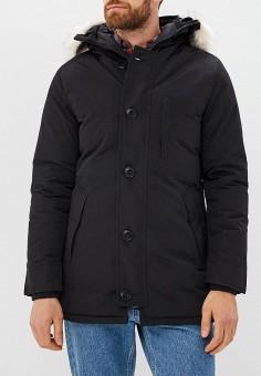 Куртка утепленная, Just Key, цвет: черный. Артикул: JU016EMCRBA9. Одежда / Верхняя одежда / Пуховики и зимние куртки