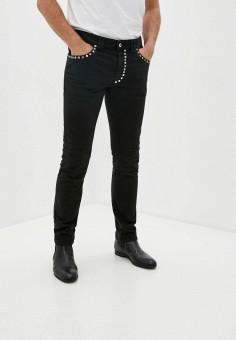 Джинсы, Just Cavalli, цвет: черный. Артикул: JU662EMJSAN4. Одежда / Джинсы / Зауженные джинсы