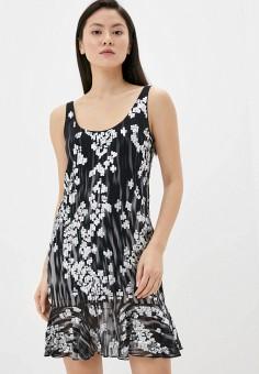 Платье, Just Cavalli, цвет: черный. Артикул: JU662EWIZXP9. Одежда / Платья и сарафаны / Вечерние платья