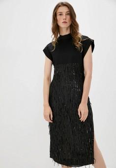 Платье, Just Cavalli, цвет: черный. Артикул: JU662EWJWCN3. Одежда / Платья и сарафаны / Вечерние платья