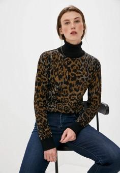 Водолазка, Just Cavalli, цвет: коричневый. Артикул: JU662EWJWCQ0. Одежда / Джемперы, свитеры и кардиганы / Водолазки