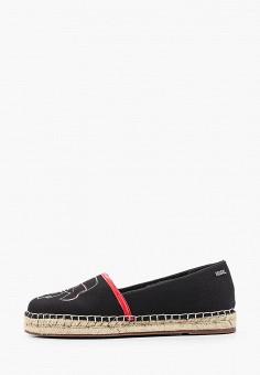 Эспадрильи, Karl Lagerfeld, цвет: черный. Артикул: KA025AWHVEO6. Обувь / Эспадрильи