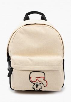 Рюкзак, Karl Lagerfeld, цвет: бежевый. Артикул: KA025BWHVEB3. Аксессуары / Рюкзаки