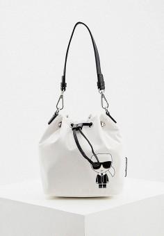 Сумка, Karl Lagerfeld, цвет: белый. Артикул: KA025BWJSJZ8. Аксессуары