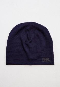 Шапка, Karl Lagerfeld, цвет: синий. Артикул: KA025CMJXNB4. Аксессуары / Головные уборы / Шапки