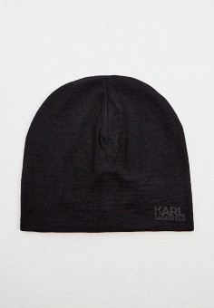 Шапка, Karl Lagerfeld, цвет: черный. Артикул: KA025CMJXNB5. Аксессуары / Головные уборы / Шапки
