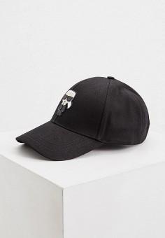 Бейсболка, Karl Lagerfeld, цвет: черный. Артикул: KA025CWHVEJ4. Аксессуары