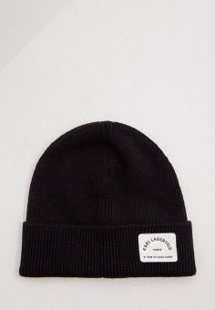 Шапка, Karl Lagerfeld, цвет: черный. Артикул: KA025CWJSKH2. Аксессуары / Головные уборы