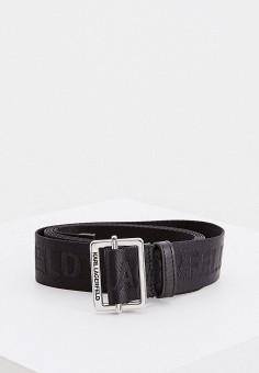 Ремень, Karl Lagerfeld, цвет: черный. Артикул: KA025DWHVEL8. Аксессуары