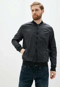 Куртка, Karl Lagerfeld, цвет: черный. Артикул: KA025EMIEZJ2. Одежда / Верхняя одежда