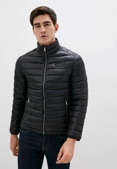 Куртка утепленная, Karl Lagerfeld, цвет: черный. Артикул: KA025EMJXNF3. Одежда / Верхняя одежда / Демисезонные куртки