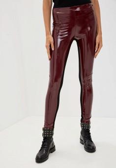 Леггинсы, Karl Lagerfeld, цвет: бордовый. Артикул: KA025EWFRDT3. Одежда / Брюки / Леггинсы