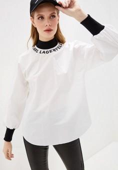 Блуза, Karl Lagerfeld, цвет: белый. Артикул: KA025EWHEWM2. Одежда / Блузы и рубашки