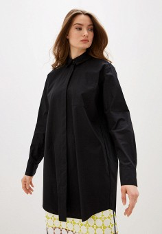 Рубашка, Karl Lagerfeld, цвет: черный. Артикул: KA025EWHEWM6. Одежда / Блузы и рубашки / Рубашки